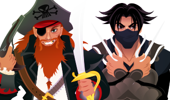 Female Pirates and Ninjas